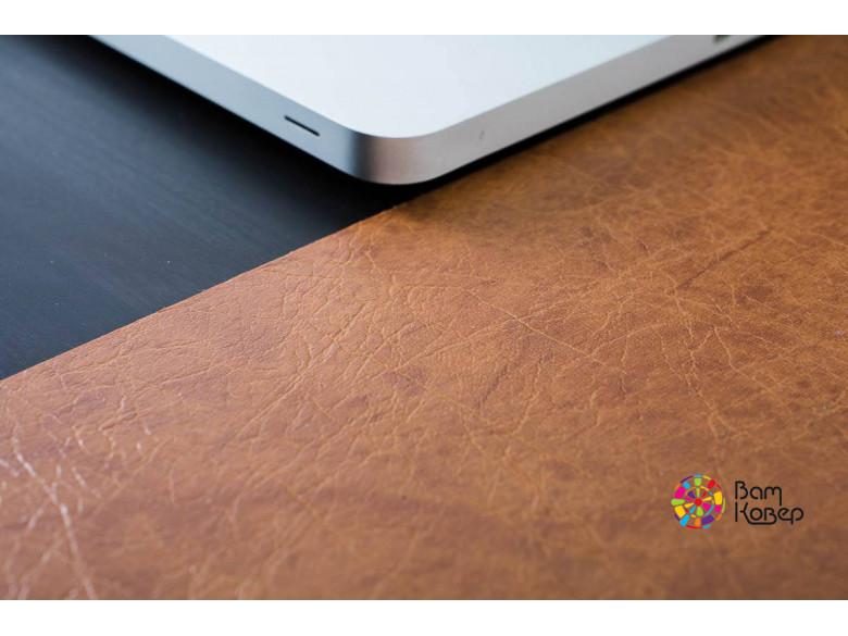 Накладка на стол Колор/Colour под кожу cветло-коричневая