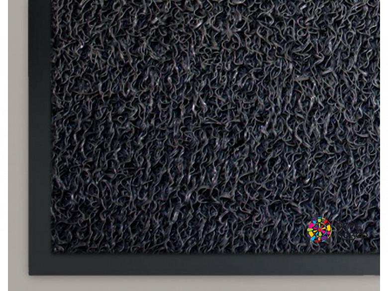 Коврик придверный из ПВХ СПАГЕТТИ (черный)