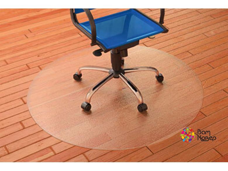 Круглый защитный коврик под кресло