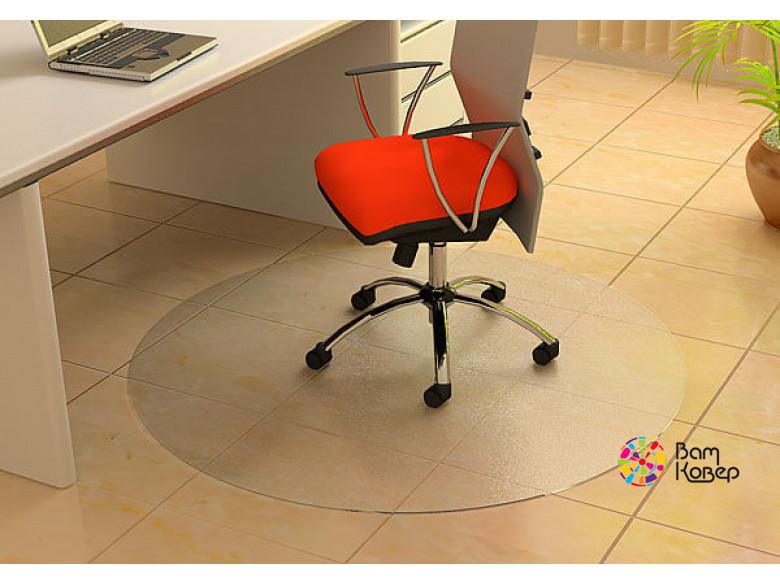 Овальный (с выступом) защитный коврик под кресло