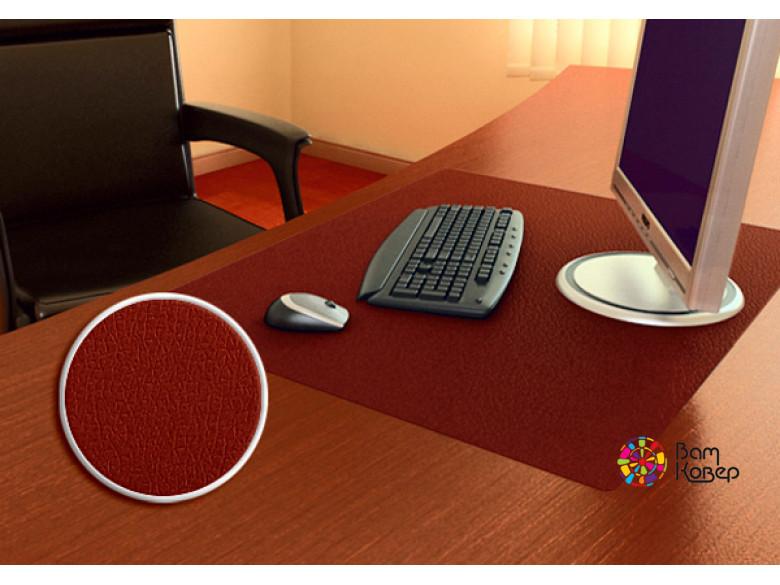 Цветная накладка на стол Desk-Colour с рисунком под кожу (коричневый)