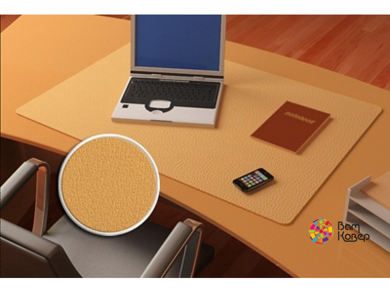 Цветная накладка на стол Desk-Colour с рисунком под кожу (бежевый)