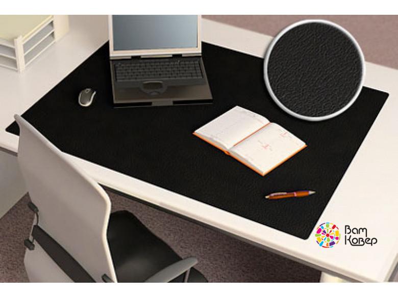 Цветная накладка на стол Desk-Colour с рисунком под кожу (черный)