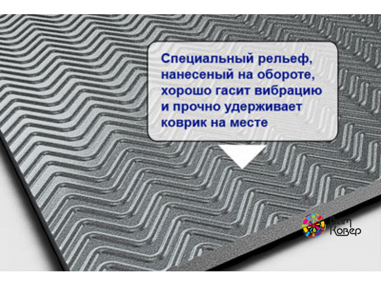 Антивибрационный коврик Mattix-Vibrotex PRO 25 мм (для спортинвентаря) квадрат