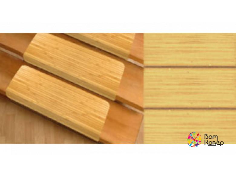 Бамбуковые накладки на ступени Бомбей светлый бамбук
