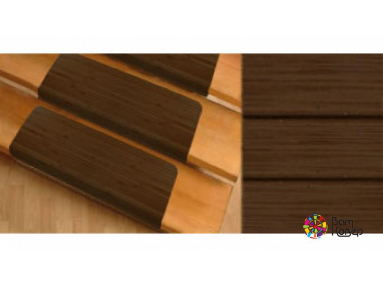 Бамбуковые накладки на ступени Бомбей темный бамбук